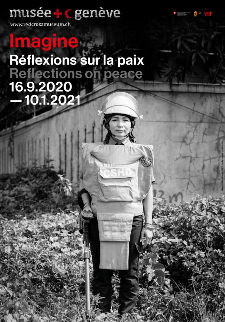 Affiche de l'exposition Penser la paix à Genève